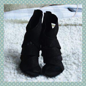 BNWT Zara Black Strappy Heels